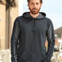 8435 Adult Omega Stretch Terry Hooded Pullover Thumbnail